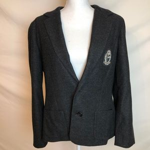 Ralph Lauren Light Black Crest Blazer Size L Nice!